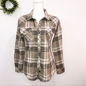 RAILS KENDRA TAN PLAID FLANNEL SHIRT …